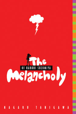 The cover of <i>The Melancholy of Haruhi Suzumiya</i>, a novel