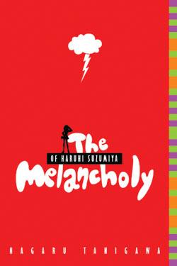 The cover of <i>The Melancholy of Haruhi Suzumiya</i>, a novel