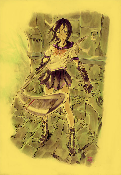 Kuniko (from the <i>Shangri-la</i> novel disapproves of fanboy-science