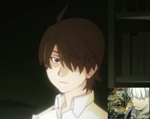 I'd already been thinking that Araragi's one-eyed look reminded me of Ginko