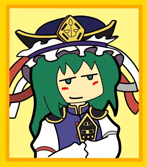 Shikieiki's so totally smirking at you.