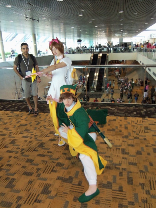Including Li and Sakura from Card Captor Sakura. I think they're protecting the guy in the back.