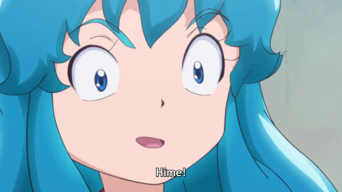Wonder if Hime's shocked by being called, or by how she was drawn here.